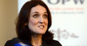 "Northern Ireland Secretary  Theresa Villiers: ""acts like this only serve to strengthen our resolve against  terrorists"".  Photograph: Cyril Byrne"