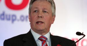 "First Minister Peter Robinson. He accused the newspaper of ""concocting"" a story to draw attention to itself after he said to journalists during an interview, ""Stop reading the Irish News"".  Photograph: Eric Luke"