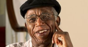 Chinua Achebe, Nigerian novelist, poet, and essayist, who died last week at the age of 82. Photograph/Brown University
