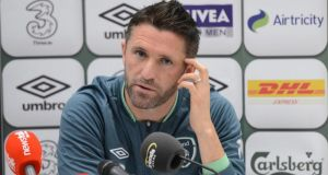 Robbie Keane will miss tomorrow night's game against Austria