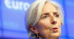 International Monetary Fund (IMF) executive director Christine Lagarde said the deal was a 'durable' solution. Photograph: Sebastien Pirlet /Reuters