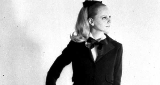 Yves Saint Laurent s woman s tuxedo from his 1966-1967 autumn winter  collection Photograph  aa66a755864