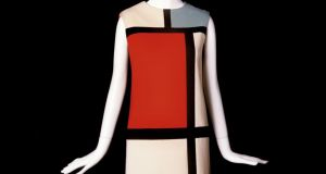 A dress from the collection shown at the current Yves Saint Laurent exhibition in Brussels A dress from the collection shown at the current Yves Saint Laurent exhibition in Brussels