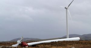A technical examination is being carried out to try to establish how a large wind turbine near Maas, close to the Ardara area of Co Donegal,  came crashing down on Thursday. While winds were heavy at the time it was nonetheless understood that these turbines were engineered to withstand such conditions.