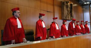 Germany's constitutional court, where Bavaria and Hesse have filed a lawsuit claiming they are being penalised by a decades-old internal redistribution system for tax revenue. Photograph: Thomas Kienzle/Reuters