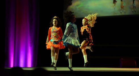Dancers  competing in the World Title competition. Photograph: Cyril Byrne/Irish Times