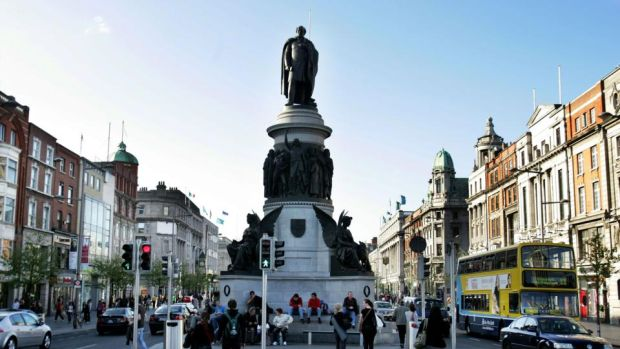 The Daniel O'Connell statue on Dublin's O'Connell Street. Photograph: Aidan Crawley