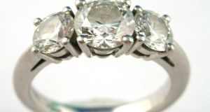 At Tiffany's on Fifth Avenue in New York an engagement ring costing $1 million or more can be bought on the second floor.