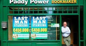 It was a good day for Paddy Power, with shares rising 0.9 per cent to €69.85, a near all-time high. Photograph: Aidan Crawley