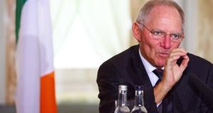 """It was the Irish government that imposed the farthest-reaching guarantee for its banking system at the start of the crisis – on its own initiative,"" said German finance minister Wolfgang Schäuble. Photograph: Eric Luke"