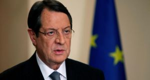 President Nicos Anastasiades, in his negotiation with the troika a week ago, appears to have opted for a levy on supposedly secured deposits under ¤100,000 for the sake of a lighter levy on those over ¤100,000. Photograph: Petros Karadjias/Reuters