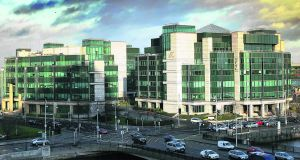The financial services centre in Dublin. The city has dropped down the world rankings for financial services.