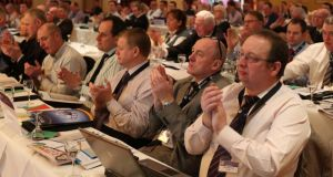 Delegates at the AGSI conference in the Clarion Hotel in Sligo, yesterday. Photograph: James Connolly/PicSell