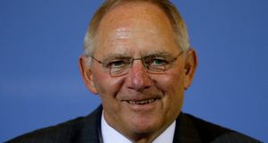 Germany's finance minister Wolfgang Schauble. Photograph: Fabrizio Bensch/Reuters
