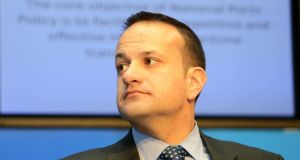 Minister for Transport, Tourism and Sport	Leo Varadkar, at the launch of the National Ports Policy. Photograph: Eric Luke