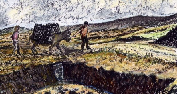 Donkey business: a vital feature of turf-cutting. Illustration: Michael Viney