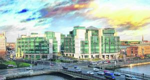 The IFSC accounts for 15 per cent of multinational employment in Ireland, and contributes 7.7 per cent of Irish GDP.   Photograph: Bryan O'Brien/The Irish Times