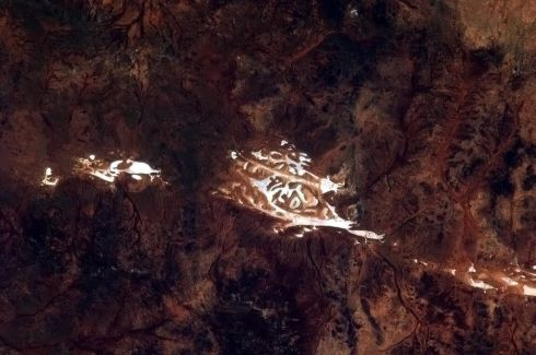 Taking pictures of the Outback from space is like unearthing ancient cave paintings. Photographs: Chris Hadfield