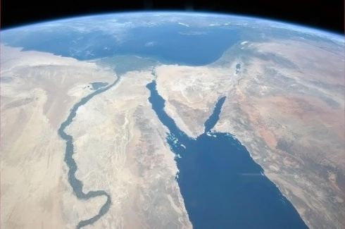 Tonight's Finale: The Nile and the Sinai, to Israel and beyond. One sweeping glance of human history.  Photographs: Chris Hadfield