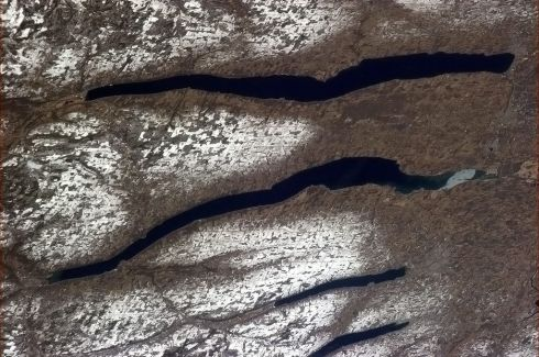 Finger Lakes, New York. Glaciers clawed them into the earth as they retreated during the last Ice Age. Photographs: Chris Hadfield