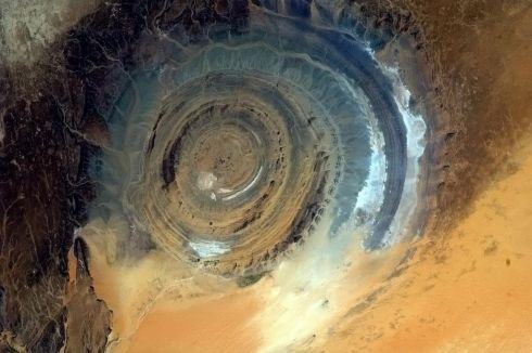 Tonight's Finale: The Richat Structure. A giant gazing eye upon the Earth. Photographs: Chris Hadfield