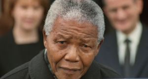 Former South African president Nelson Mandela has been admitted to hospital with a recurrence of a lung infection. Photograph: Matt Kavanagh/The Irish Times
