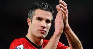 Manchester United's Robin van Persie believes the title is all but wrapped up. Photograph:  Martin Rickett/PA Wire.