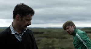 Joe Mullins and Muiris Crowley in Pilgrim Hill