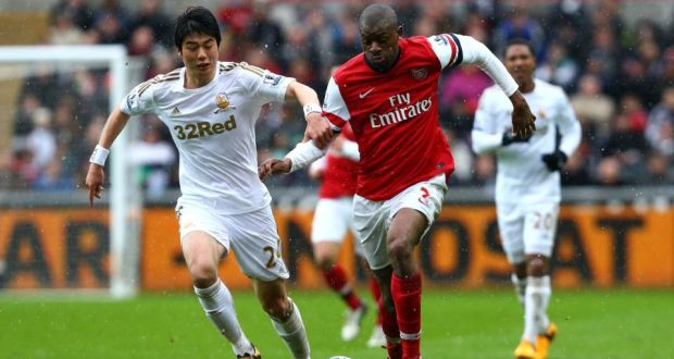 arsenal s diaby out for eight or nine months