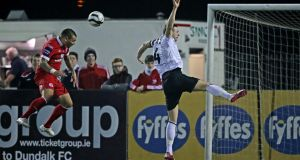 Anthony Elding scores Sligo's third goal last weekend. Photograph Inpho/Morgan Treacy