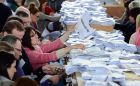 Counting under way in the Meath East By Election, at the count centre in Donaghmore, AshbournePhotograph: Alan Betson / THE IRISH TIMES