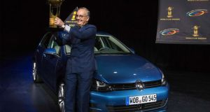 Volkswagen design chief Walter de Silva  after the Volkswagen Golf was named World Car of the Year. Photo: Reuters