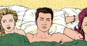 Three's a crowd: SpunOut's advice on threesomes proved controversial. Illustration: Eoin Coveney