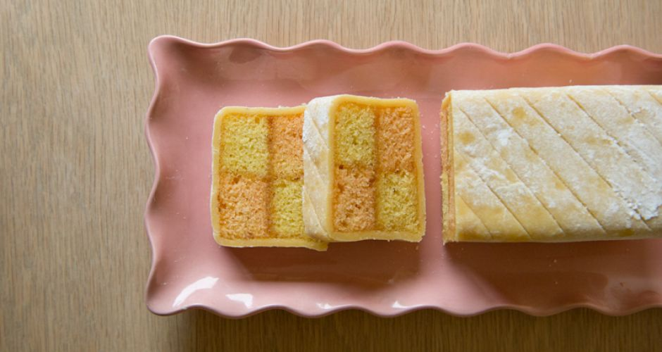 Enjoy a slice of delicious Battenberg cake with a well earned cup of ...