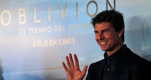 Tom Cruise poses as he arrives for the world premiere of his movie Oblivion in Buenos Aires this week. He will attend the Irish premiere of the film on Wednesday in Dublin. Photograph: Marcos Brindicci/Reuters
