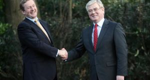 The Meath East byelection result will test the personal political bond  between Enda Kenny and Eamon Gilmore. Photograph: Alan Betson