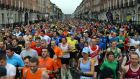 Runners at the start of the 33rd Dublin Marathon last year. Photograph: Cyril Byrne