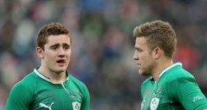 Ireland's Paddy Jackson and Ian Madigan will go head-to-head when Leinster host Ulster at the RDS this evening. Photograph: James Crombie/Inpho