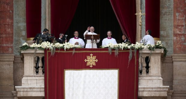 Pope Francis Delivers His First Urbi Et Orbi Blessing From The Balcony Of St