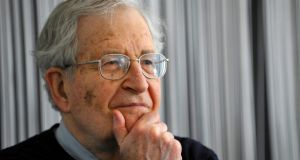 "Noam Chomsky. ""The oil dictatorships, the countries that the West really cares about for obvious reasons, their uprisings have been suppressed very harshly and very successfully, with western support."" Photograph: Sascha Schuermann/AFP/Getty"