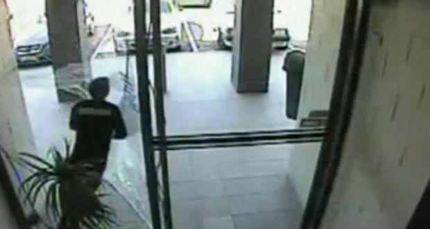 Australian Bag Snatcher Filmed Running Into Glass Door