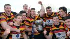 Captain Ross McCarron and Lansdowne players celebrate at the weekend.  Photograph: Cathal Noonan/Inpho