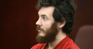 James Holmes, facing trial for the deaths of 12 people in a cinema shooting.  Photograph: RJ Sangosti/Reuters