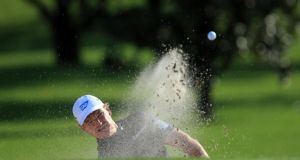 Ernie Els of South Africa is phasing out the use of his belly putter. Photograph: David Cannon/Getty Images