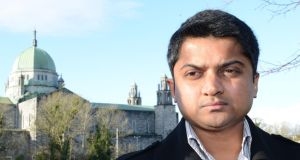Praveen Halappanavar, whose wife Savita  died following a miscarriage in  Galway University Hospital.  Photograph: Brenda Fitzsimons/The Irish Times