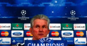 Bayern Munich's coach Jupp Heynckes at a news conference in Munich yesterday. His side  will contest the first leg of their  Champions League quarter-final with  Juventus in Turin tonight.  Photograph: Michael Dalder/Reuters