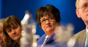 INTO president Anne Fay at the organisation's conference in Cork yesterday. Photograph: Michael MacSweeney/Provision
