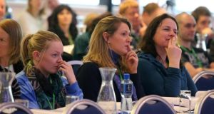 Delegates at the ASTI Annual Convention. Photograph: Patrick Browne