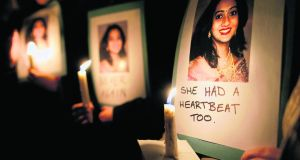The HSE report concludes there was an overemphasis on the welfare of the unviable foetus and not enough on the gravely ill Savita Halappanavar (31), according to her husband Praveen's solicitor, Gerard O'Donnell. Photograph:  Julien Behal/PA