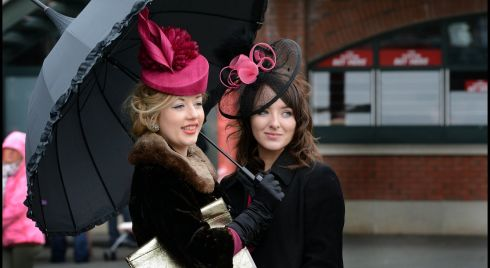 Maria Kelly and Sarah Hunt from Enfield enjoying the day out. Photograph: Brenda Fitzsimons/The Irish Times